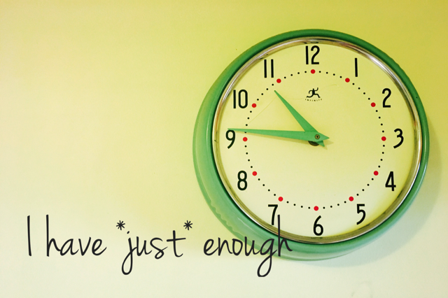 Just Enough time clock image