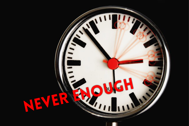 Never Enough time clock image